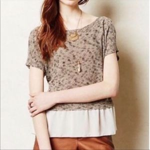 Anthropologie Moth knit layered top